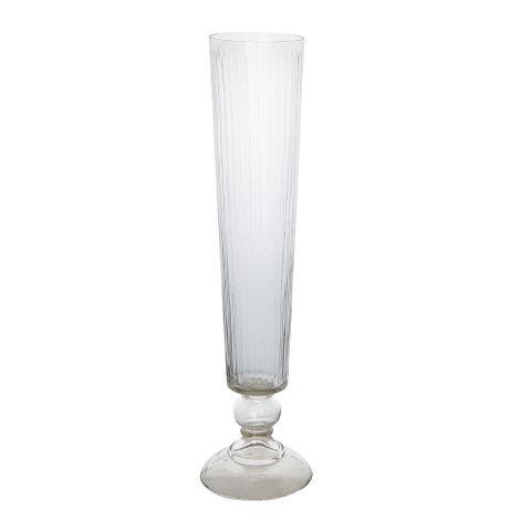 PRE-ORDER Cello Stripe Cut Glass Vase Large Clear