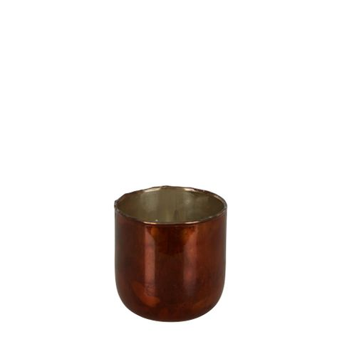PRE-ORDER Dannika Glass Vase Amber Small