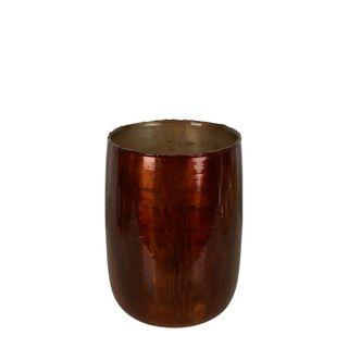 PRE-ORDER Dannika Glass Vase Amber Large