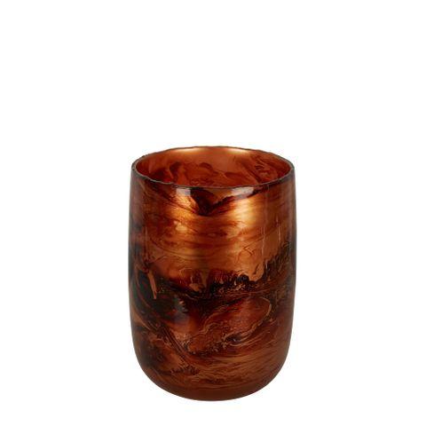 PRE-ORDER Jafar Glass Vase Amber