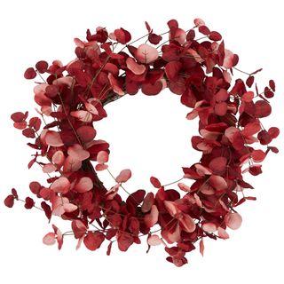 PRE-ORDER Cherry Eucalyptus Leaf Wreath