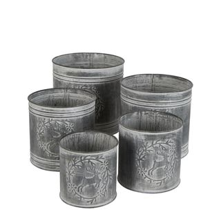 PRE-ORDER Distressed Iron Pots Set of 5