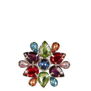 Multi Coloured Jewelled Flower Napkin Ring