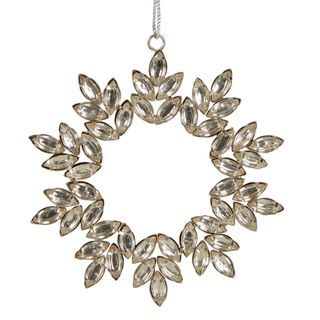 Silver Jewelled Hanging Ornament