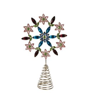 Multi Coloured Jewelled Star Tree Topper
