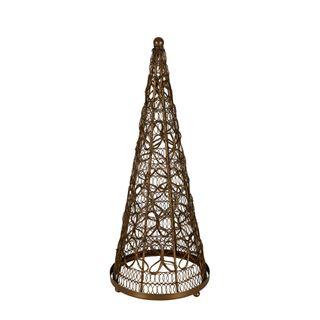 PRE-ORDER Daisy Crochet Cone Lantern Large Gold