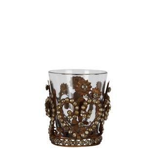 PRE-ORDER Buckingham Iron & Glass Votive Bronze