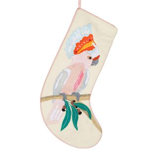 PRE-ORDER Pink Cockatoo Embroidered Stocking