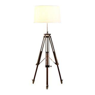 Loft Base Only - Nickel - Tripod Floor Lamp Base Only
