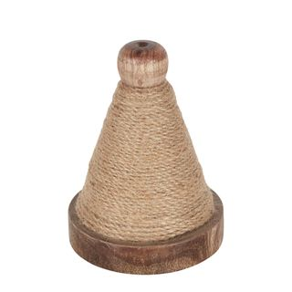 PRE-ORDER Jute Cord On Wooden Triange Spool Natural 10m
