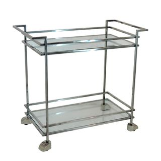 Hilton Glass Bar Trolley