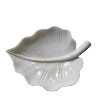 Marble Elm Platter Large White