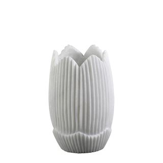 Mahina Marble Vase Small White