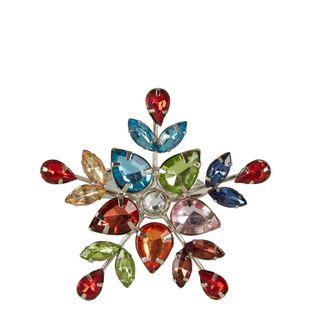 Multi Coloured Jewelled Snowflake Napkin Ring