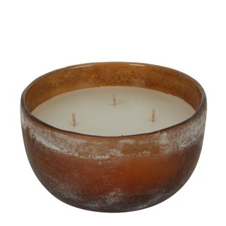 PRE-ORDER Buried Amber Glass Bowl Wax Candle Medium