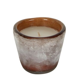 Buried Amber Glass Bowl Wax Candle Small
