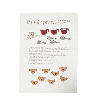 PRE-ORDER Koala Gingerbread Cookies Tea Towel