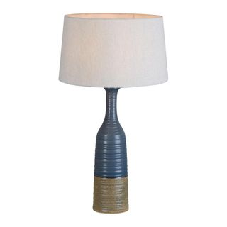 Potters Small Table Base Only - Grey/Brown - Tall Thin Glazed Ceramic Table Lamp Base Only