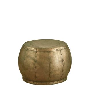 Omega Table Small - Antique Brass - Iron Riveted Side Table