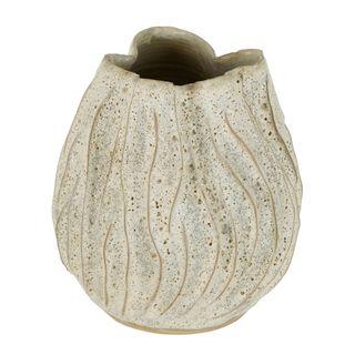 Lufa White Moss Vase
