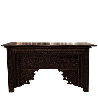 Alaia Black Wooden Console Table
