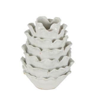 Cabbage Vase White Large