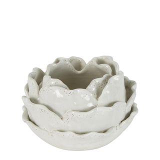 Cabbage Vase White Small