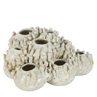 Tobago Coral Cluster Vase Sculpture White