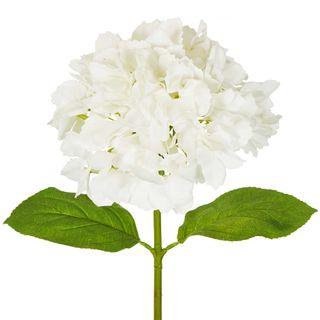 Hydrangea Stem Soft Touch 50cm White