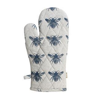 Honey Bee Single Oven Glove Pale Blue