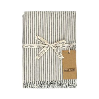 Manor Stripe Tablecloth Charcoal