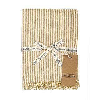 Abby Stripe Tablecloth Mustard
