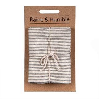 Manor Stripe Tea Towel Set/2