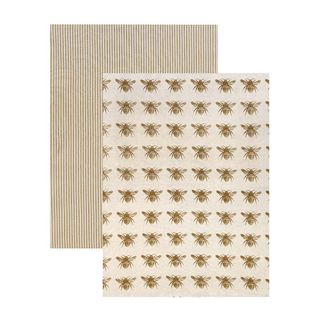 Honey Bee Tea Towel Pack/2 MUST