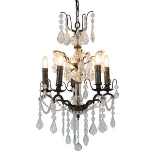 Venice Chandlier Iron Black with Silver dotted