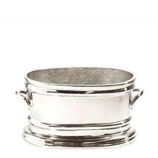 Oval Ice Bucket Small Nickel