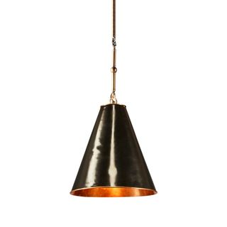 Monte Carlo Hanging Lamp Small Black and Brass