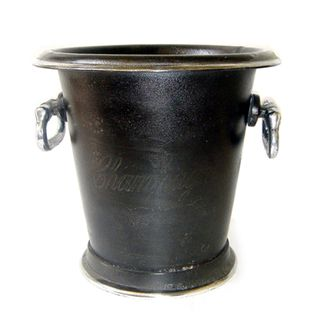 Round Ice Bucket with Handles Brass