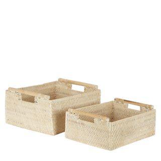 Surya Woven Basket Set of 2