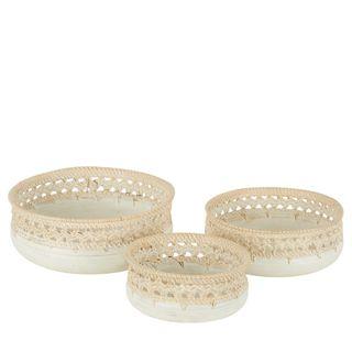 Cinta Woven Platter Set of 3