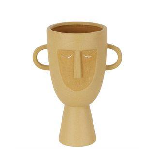 Coltrane Stoneware Face Vase Sand