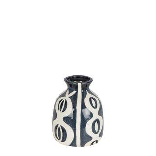 Indie Ceramic Vase Blue Small
