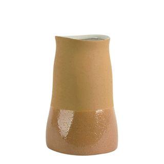 Tuba Ceramic Vase Medium Ochre