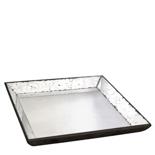 Antiqued Mirror Tray Large