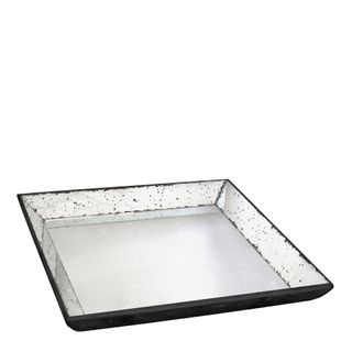 Antiqued Mirror Tray Small
