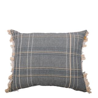 Textured Check Cushion Blueberry
