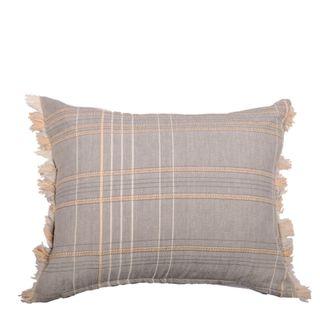 Textured Check Cushion Ash