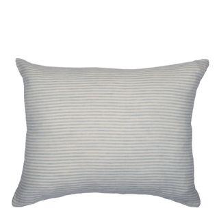 Linen Stripe Cushion Sky Grey