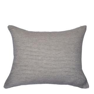 Linen Stripe Cushion Storm