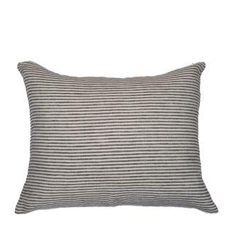 Linen Stripe Cushion Olive Green